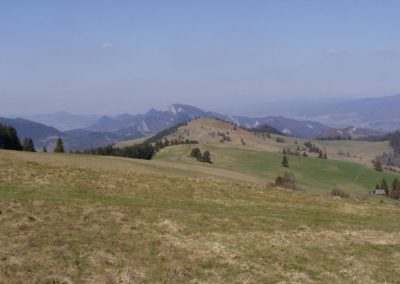 A general view at the Pieniny Mountains