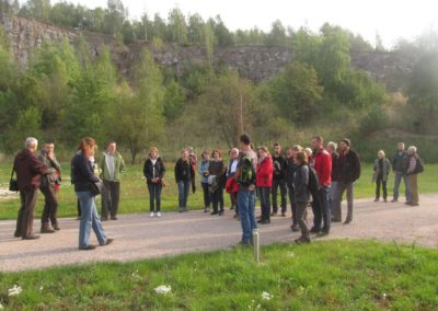 Conference participants visiting the European Centre for Geological Education (ECEG) and the abandoned quarry of Devonian dolomites next to the Centre