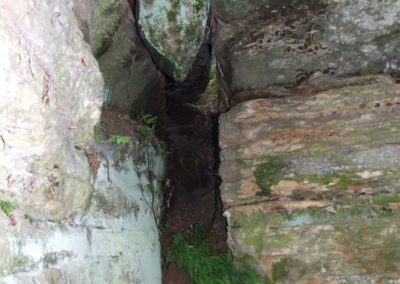Entrance to the Tunelik (Small Tunnel) in the Adamów crag group, Jurassic sandstones