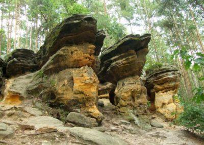 Skałki Piekło pod Niekłaniem crag group, Jurassic sandstones (will be visited during the Symposium field session)