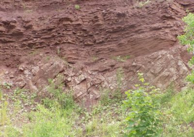 Zachełmie abandoned quarry (inanimate nature reserve): Variscan Devoniac-Triassic) unconformity