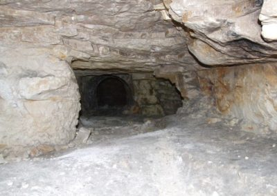Krzemionki Museum and archaeological-nature reserve: gallery of Neolithic flynt mine in Jurassic limestone